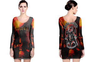 Bathory long sleeve bodycon dress