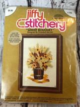 Jiffy Stitchery WHEAT BOUQUET Vintage 70s Crewel Embroidery Kit - $9.50