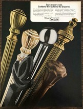 1972 Sears Drapery Rods Print Ad SuddenlyThey Outshine the Draperies - $10.75