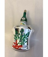 Champagne Wine Bottle Blown Glass Christmas Ornament Ice Bucket - $14.85