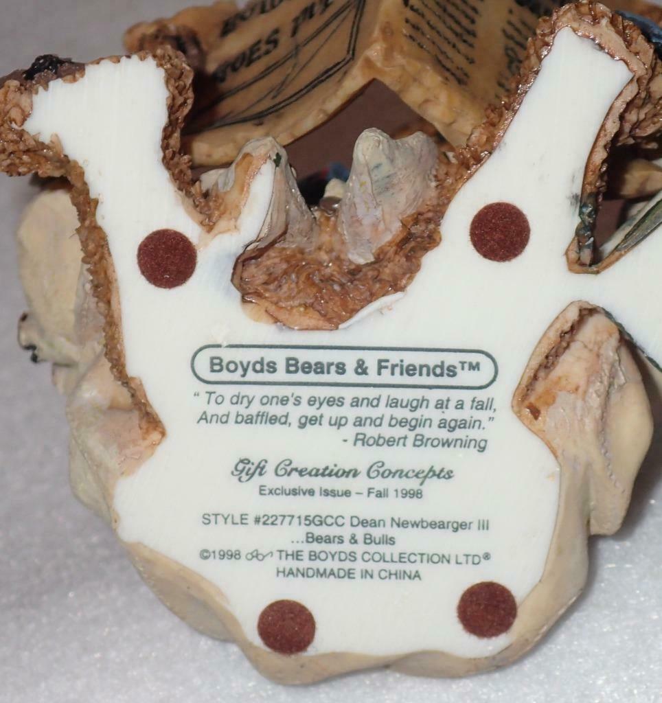 Boyd Bearstone Resin Bears Dean Newbearger III Bears & Bulls Figurine #227715 image 4