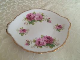 Royal albert american beauty cake plate platter serving dish - $34.00