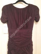 NWT Halston Heritage Ruched Jersey Mini Bodycon Dress Purple Aubergine XS 0 2 image 7