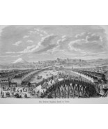 JAPAN Niphon Bashi Bridge in Yedo Tokyo - 1882 Wood Engraving - $19.80