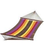 13 Multi-Color Stripe Caribbean Tight Weave Polyester Rope Hammock - $199.48