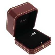 Cartier Agrafe Ring With Diamonds Size 7 New - $2,173.05