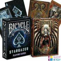 2 Jeux Bicycle 1 Stargazer Et 1 Anne Stokes Steampunk Cartes à Jouer Neuf - $20.68