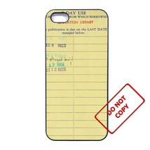 Vintage Library Card Sony M4 case Customized premium plastic phone case, - $11.87