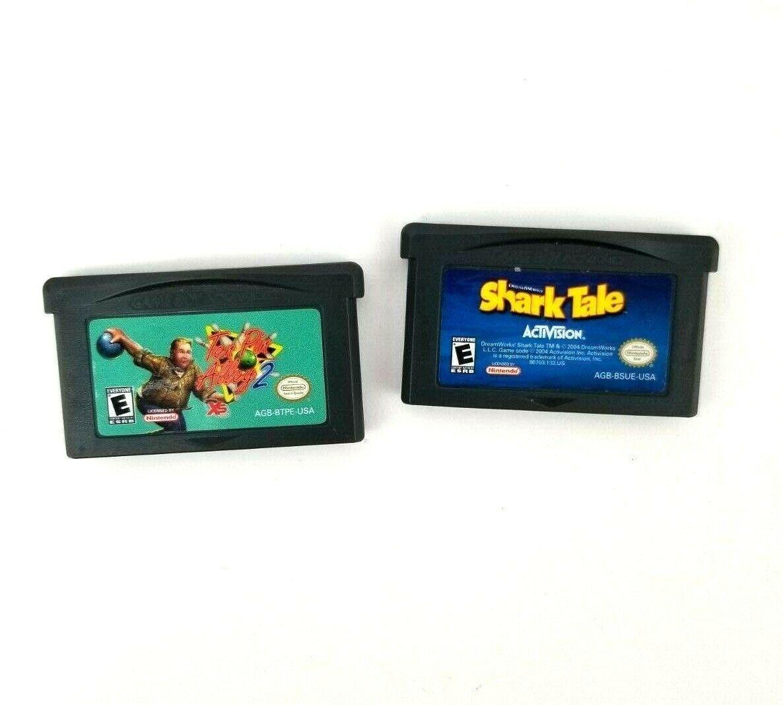 Lot 5 Nintendo Game Boy Advance Games Monopoly Shark Tale Ten Pin Alley 2 Barbie
