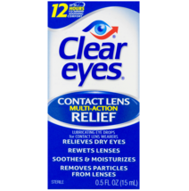 Clear Eyes Contact Lens Multi-Action Relief Eye Drops, 0.5 fl oz - $5.09