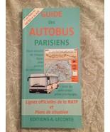 Guide des autobus parisiens Paris Bus Guide with Map - $9.89