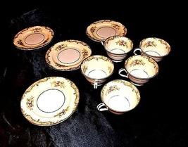 Noritake China - Tea Cups and Dessert Plates AA18 - 1177 9 Piece Vintage image 2