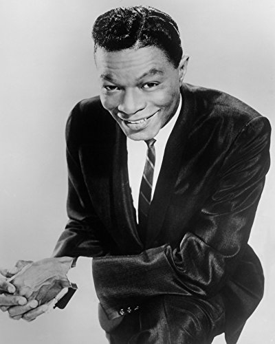 Nat 'King' Cole Smiling Cool Pose In Black Suit 16X20 Canvas Giclee
