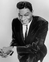 Nat 'King' Cole Smiling Cool Pose In Black Suit 16X20 Canvas Giclee - $69.99