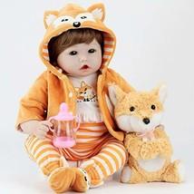 Aori Realistic Reborn Doll 22 Inch Lifelike Weighted Roborn Baby Girl wi... - $58.40
