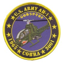 US Army AH-1 Cobra Commemrative Patch with Velco NEW!!! @ - $11.87