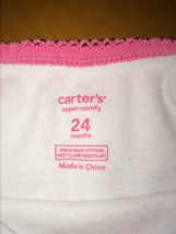 Baby Girls Toddlers Beautiful Carter's Super-Comfy Top T-Shirt Size 24 Months image 3