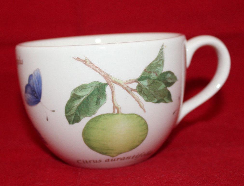 Wedgwood Queen's Ware Sarah's Garden Coffee Tea  Mug Cup Butterfly Citrus 1997