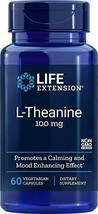 Life Extension L-Theanine 100 mg, 60 Vegetarian Capsules - $26.35
