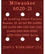 Milwaukee 6020-21 - 17 Different Grits - 20 Sheet Variety Bundle III - $18.97