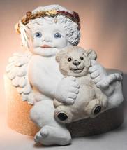 Dreamsicles: Cherub With Teddy Bear - DZ202 - Wall Hanging Cherub Figure - $28.70