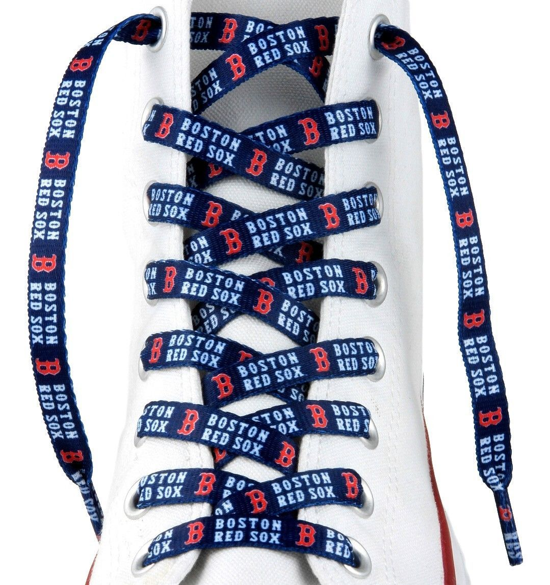 "BOSTON RED SOX TEAM LOGO SHOE LACES 54"" *LACEUPS* GAME DAY PARTY MLB BASEBALL"