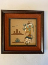 """8 1/2"""" X 8 1/2"""" Navajo Sand Painting Framed - $48.49"""