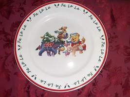 "Disney Winnie the Pooh ""Fa•La•La"" Christmas Platter 13.5"" ~ Piglet Eeyor... - $29.69"