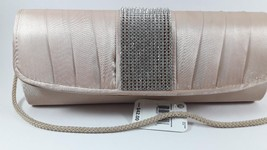 Jessica McClintock Pleated Rhinestone Evening Bag - $22.28