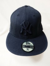 NEW ERA 59FIFTY New York Yankees NY Adult Fitted Hat Cap 7 5/8 Black MLB... - $23.00