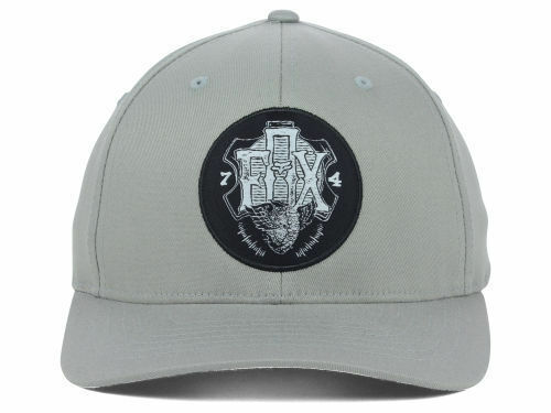 Fox Racing Limitless Logo Gray Stretch Fit Cap Hat  S/M & L/XL