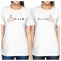 Gun Hands With Hearts BFF Matching White Shirts - $30.99+