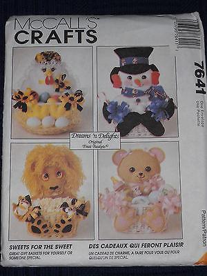 Holiday Treat Baskets Santa Snowman Dog and 50 similar items