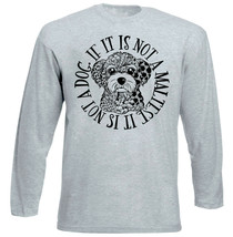 Maltese Dog Circle - NEW COTTON GREY TSHIRT - $20.84