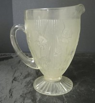 Jeanette Glass Iris & Herringbone Iced Tea Water Pitcher - $28.49