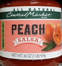 Central Market HEB Salsa 16 Oz (Pack of 2) (Peach Salsa - Mild) - $28.40