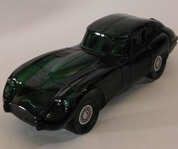 Avon Jaguar Sports Car Cologne Decanter Empty Green Glass Deep Woods Aft... - $17.82