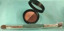 Laura Geller Baked ImPRESSions Eye Shadow Liner Duo FINE WINES Brown Pin... - $13.16