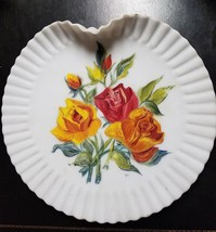 Estate find - exquisite Mount Washington Glass Co handpainted plate  - R... - $29.99