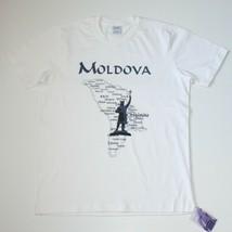 Moldova Map Men's White T Shirt Top Brand New Size L - $16.99
