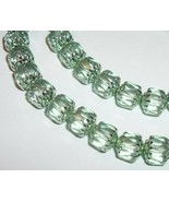 Czech Preciosa round cathedral glass beads Mint green metallic mint 1 st... - £4.89 GBP+