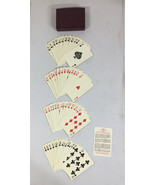 Vintage Pinochle Deck Plastic Playing Cards with Maroon Plastic Case - $14.84