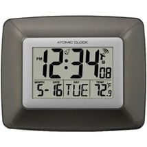 Atomic Digital Wall Clock with Indoor Temperature  - $24.99