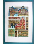 RENAISSANCE Glass Painting France England  - COLOR Lithograph Print by R... - $22.95