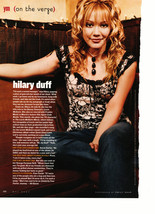 Hilary Duff teen magazine pinup clipping dangly black necklace couch