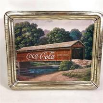 Coca-Cola Collectible Tin Covered Bridge Jim Harrison Landscape - $12.99