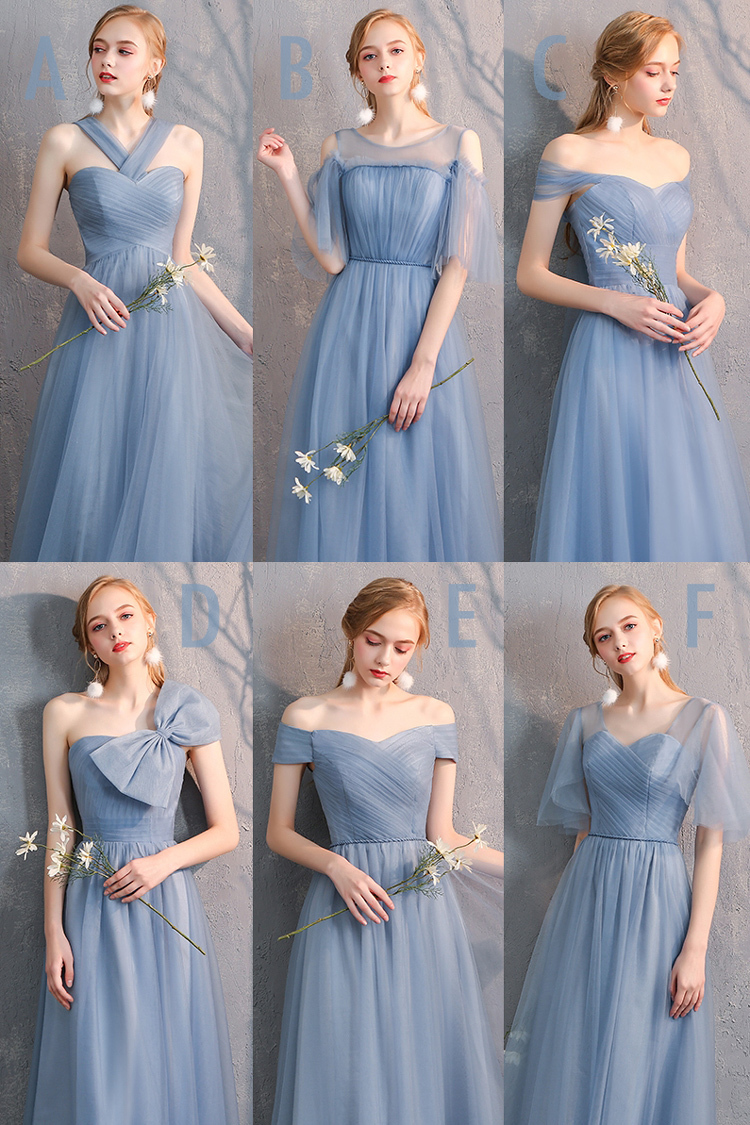Bridesmaid tulle dress dusty blue 20