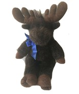 "Build a Bear Dark Brown Moose w/scarf Plush Stuffed Animal Soft Toy 16"" RETIRED - $49.99"