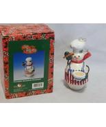 Kurt Adler Christmas Porcelain Snowman Ornament - $10.89