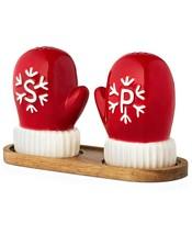 NEW Martha Stewart Holiday Winter Mittens Christmas Salt & Pepper Shaker... - $13.85